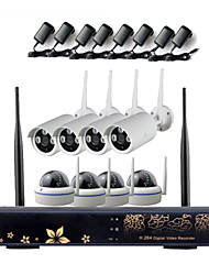 8ch Megapixel  Wireless Transmission HD IP Camera&NVR Kit