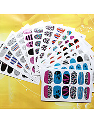 1pcs  3D Colored Onion Powder Nail Stickers