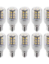 10 Pcs E14 4W 30 SMD 5050 300 LM Warm White T LED Corn Lights 3600K AC 220-240