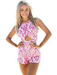 Women's Print Multi-color Jumpsuits , Holiday / Beach Strap Sleeveless