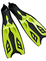 Diving Fins silicone Yellow / Blue