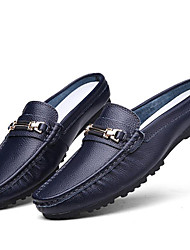 Men's Shoes Wedding/Office & Career/Party & Evening/Athletic/Dress/Casual Nappa Leather Loafers Blue/Brown/White