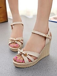 Women's Shoes Fashion Casual Flange Bowknot Wedge Heel Comfort Sandals