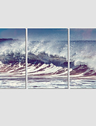 2016Modern Sea Wave Painting On The Wall 3 Piece Modular Pictures Home Decorative Canvas Art Prints No Frame