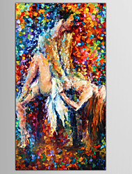 pessoas pintados à mão / / moderno europeu pintura a óleo estilo abstrato retrato / nu, um painel de lona
