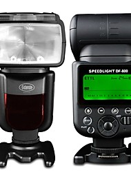 sidande® df800 вспышка Speedlight gn58 я-ТТЛ мастер высокоскоростной синхронизации 1 / 8000s для NIKON D10 D60 D80