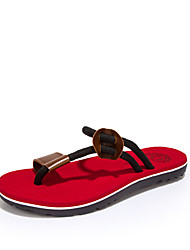 Men's Shoes Outdoor / Casual Fabric Sandals / Flip-Flops Black / Red / Khaki
