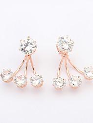 Fashion Alloy / Cubic Zirconia Claw Stud Earrings