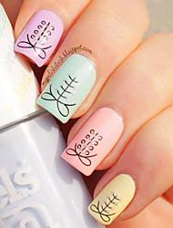 1pcs  Fashion Shoelace Nail Stickers