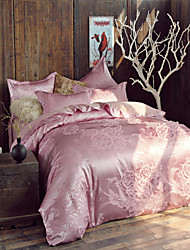4-Piece Jacquard Polyester Duvet Cover Set  MHDM11