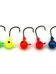 "Jig / Esca metallica / Jig Head 14pcs pc , 7G g / 1/4 Oncia , 40 mm / 1-5/8"" pollice Colori casuali Metallo / FiliPesca di mare / Pesca"
