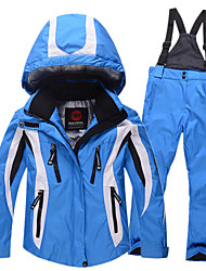 Kids Skiing Jacket + Pants Sets Boy Girl Thicken Waterproof Snow Jackets Children Ski Suit Child Skiing Clothing B2569