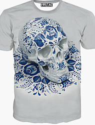 Men's Print Casual T-Shirt,Cotton Short Sleeve-Animal Print