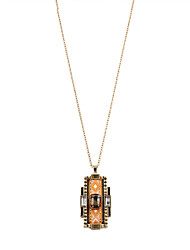 Women's Pendant Necklaces Alloy Resin Fabric Simulated Diamond Khaki Jewelry Party Daily Casual Sports 1pc