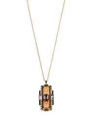 Colliers Tendance Pendentif de collier Bijoux Soirée / Quotidien / Décontracté / Sports Alliage / Résine / Tissu Orange 1pc Cadeau