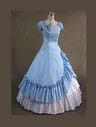Gothic Lolita Dress  Sky Blue Vintage Gothic Victorian Dress Cosplay Costumes