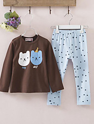 Age Season 2 Cubs Printed Leggings Render Unlined Upper Garment Of Cotton  2 Sets Of The Girls