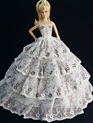 Party & Evening Dresses For Barbie Doll White Dresses