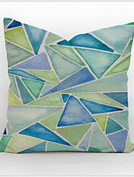 Cotton Linen Pillow Case Home Pillowcase Cover Decorative Square Gift 45 X 45cm Colourful Geometric Printed
