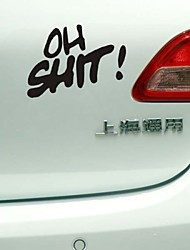 Funny OH SHIT Car Sticker Car Window Wall Decal Car Styling (1pcs)