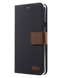 For Sony Case Card Holder / with Stand / Flip Case Full Body Case Solid Color Hard PU Leather for Sony Sony Xperia C5 Ultra