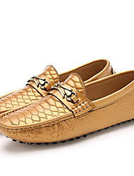 Men's Shoes Wedding / Office & Career / Party & Evening / Dress / Casual Nappa Leather Loafers Black / Gold