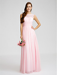 Floor-length Chiffon Bridesmaid Dress Sheath/Column Bateau