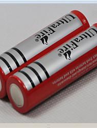 2 x Ultrafire 18650 batteria ricaricabile 3000 mAh Li-ion 3.7V