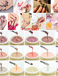 50951 New Product Of CANNI Brand 15ml 15 Colors Camouflage Natural Color Jelly Builder Extend Nail UV Gels 12 PCS/SET