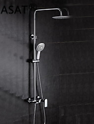 Shower Faucet Contemporary Waterfall Brass Chrome