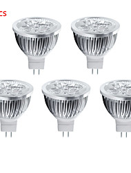 5pcs 5W MR16 550LM Warm/Cool White Color Light LED Spot Lights(12V)