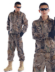 Men Outdoor Casual Sports Jacket Shell Climbing Jacket Special Camouflage Field Suit Hunting Camo Suits=Jacket+Trousers