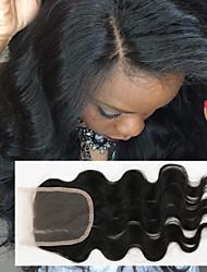 milieu 3 partie dentelle helene fermeture bleache brazilian fermeture de dentelle de cheveux humains libre avec des cheveux de bébé