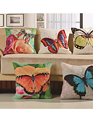 Baolisi Set of 5 3D Flowers of the Butterfly Decorative Pillow /Children of the World