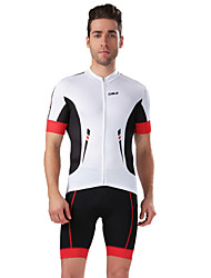 cheji® Cycling Jersey with Shorts Men's Short Sleeve Bike Sleeves Jersey Shorts Clothing SuitsQuick Dry Ultraviolet Resistant Breathable