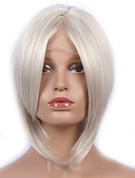 Fashion Synthetic Wigs Lace Front Wigs Bob Straight White Heat Resistant Hair Wigs Women