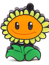 zpk47 unidade de memória flor 16gb usb girassol 2.0 Flash u vara
