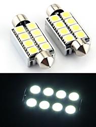 8 SMD LED canbus 214 569 interior lâmpada 43 milímetros (2 peças)