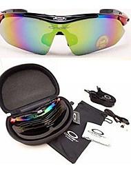 5 lentille lunettes lunettes de sport de vélo en plein air vélo lunettes de soleil lunettes fixés