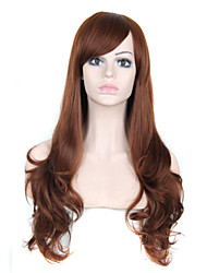 New fashions synthetic False Hair Wig Curly Full Wigs with Side Bangs Cheap Heat Resistant Wig