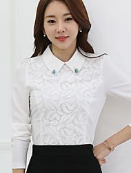 Women's Doll Collar Lace / Chiffon Long Sleeve Blouse