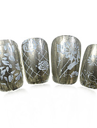 1pcs nieuwe 12x6cm image diy stamping platen nail art templates stencils voor polish xy-L22