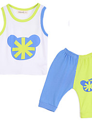 Unisex Cotton Clothing Set,Summer Sleeveless