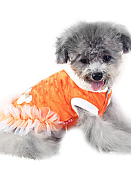 Dog Coat White / Orange Winter Fashion