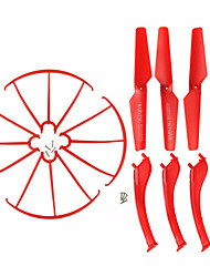 4color Syma X5S/X5SW/X5SC Spare Parts Set 4 Landing Gear + 4 Blade Propeller + 4 Protect Ring for RC Quadcopter Drone