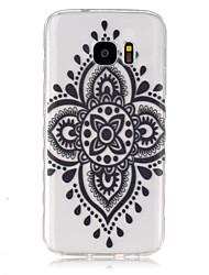 Für Samsung Galaxy Hülle Transparent Hülle Rückseitenabdeckung Hülle Mandala TPU SamsungS7 / S6 edge / S6 / S5 Mini / S5 / S4 Mini / S4 /