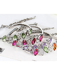 Cute / Casual Alloy / Rhinestone / Gemstone & Crystal Link/Chain / Beaded Bracelet