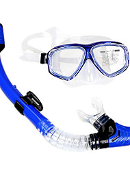 Dry Diving Mask made in Silicone/Glass Material for Adult(MultiColor)