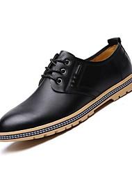 Zapatos de Hombre Oxfords Exterior / Casual Semicuero Negro / Marrón / Amarillo