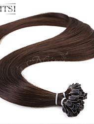 """neitsi 20 """"1g / с 50g кератина слияние у ногтей наконечник прямые Ombre человеческих волос 2 #"""